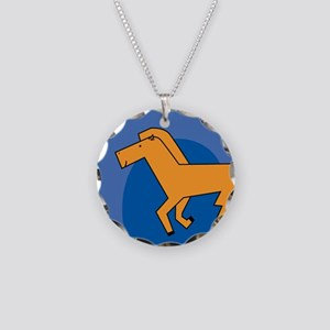 Horse Necklace Circle Charm