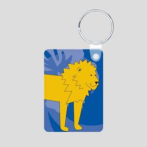 Lion Aluminum Photo Keychain