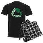 Green Surfers Men's Dark Pajamas