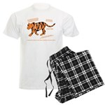 Tiger Facts Men's Light Pajamas