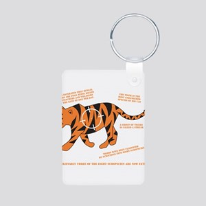 Tiger Facts Aluminum Photo Keychain