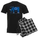 Rhino Facts Men's Dark Pajamas