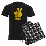 Peace It Out! Men's Dark Pajamas