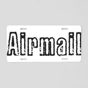 Airmail Aluminum License Plate