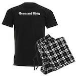 Down and Dirty Men's Dark Pajamas
