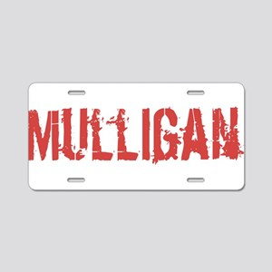 Mulligan Aluminum License Plate
