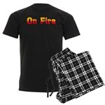 On Fire Men's Dark Pajamas