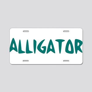Alligator Aluminum License Plate