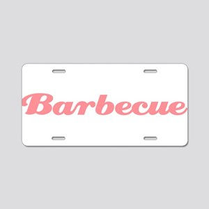 Barbecue Aluminum License Plate