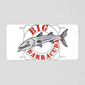 Big Barracuda Aluminum License Plate