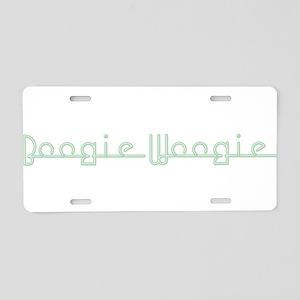 Boogie Woogie Aluminum License Plate