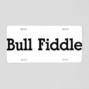 Bull Fiddle Aluminum License Plate
