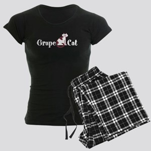 Grape Cat Women's Dark Pajamas