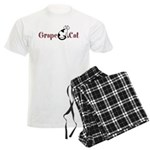 Grape Cat Men's Light Pajamas
