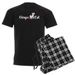Grape Cat Men's Dark Pajamas