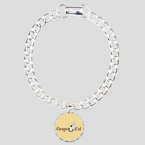 Grape Cat Charm Bracelet, One Charm