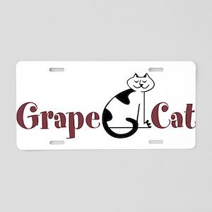 Grape Cat Aluminum License Plate