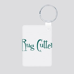 Rug Cutter Aluminum Photo Keychain
