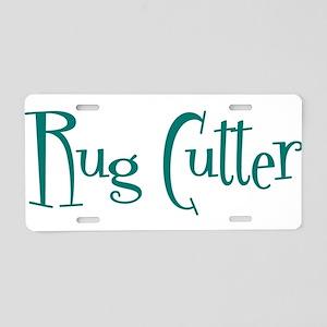 Rug Cutter Aluminum License Plate