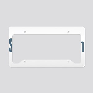Sixty-Minute Man License Plate Holder