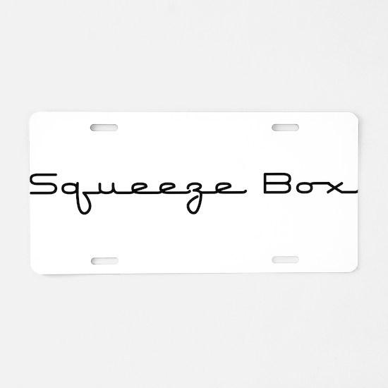 Squeeze Box Aluminum License Plate