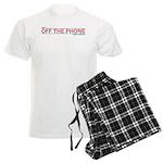 Get Off the Phone Men's Light Pajamas