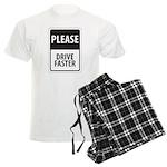 Please Drive Faster Men's Light Pajamas