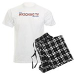 Stop Watching TV Men's Light Pajamas
