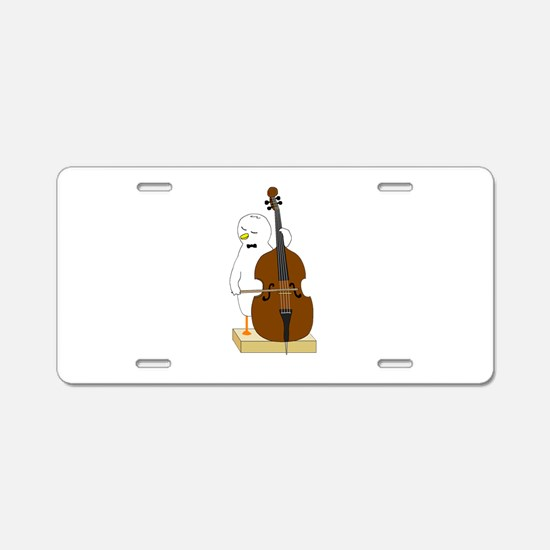 Double Bass Player Aluminum License Plate