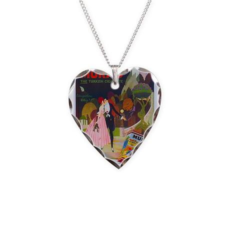 Art Deco Best Seller Necklace Heart Charm
