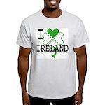 I love Ireland Shamrock Ash Grey T-Shirt
