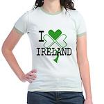 I love Ireland Shamrock Jr. Ringer T-Shirt