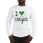 I love Ireland Shamrock Long Sleeve T-Shirt