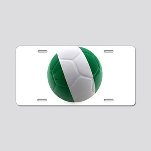 Nigeria World Cup Ball Aluminum License Plate