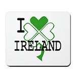 I love Ireland Shamrock Mousepad
