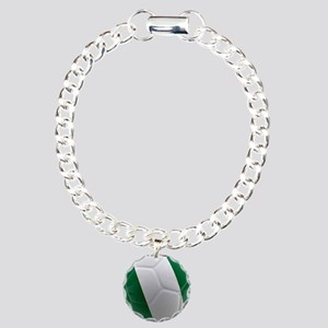 Nigeria World Cup Ball Charm Bracelet, One Charm