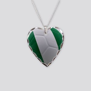Nigeria World Cup Ball Necklace Heart Charm