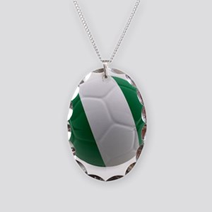 Nigeria World Cup Ball Necklace Oval Charm