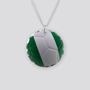 Nigeria World Cup Ball Necklace Circle Charm