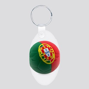 Portugal World Cup Ball Aluminum Oval Keychain