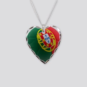 Portugal World Cup Ball Necklace Heart Charm