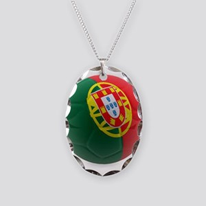 Portugal World Cup Ball Necklace Oval Charm