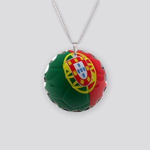 Portugal World Cup Ball Necklace Circle Charm