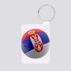 Serbia World Cup Ball Aluminum Photo Keychain