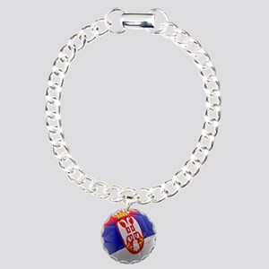 Serbia World Cup Ball Charm Bracelet, One Charm
