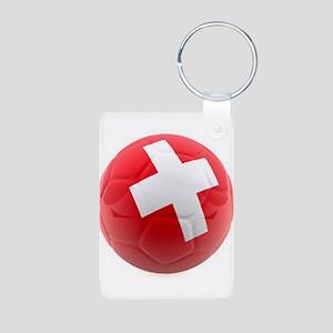 Switzerland World Cup Ball Aluminum Photo Keychain