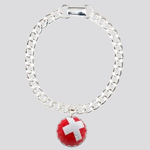 Switzerland World Cup Ball Charm Bracelet, One Cha
