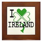 I love Ireland Shamrock Framed Tile