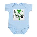I love Ireland Shamrock Infant Creeper