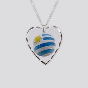 Uruguay World Cup Ball Necklace Heart Charm